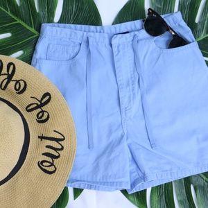 Pants - Baby Blue Shorts